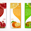 Tropical fruits vertical banner set — Stock Vector #43837373