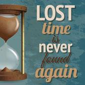 Hourglass retro poster — Wektor stockowy