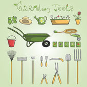 Garden tools icons set — Stock Vector