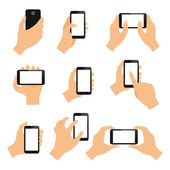 Touch screen hand gestures — Stock Vector