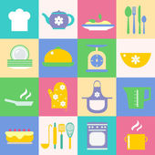 Cuisine and kitchen icons set — Stock Vector
