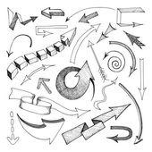 Arrows icon sketch — Vecteur