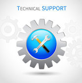Technical support icon — Stock Vector