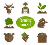 Farming icon set — Stock Vector