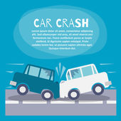 Car crash poster — Stock Vector