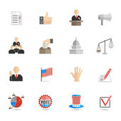 Elections icons flat set — Stock Vector