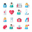 Medical healthcare icons set — Stock Vector