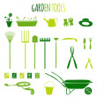Garden tools icons set — Stock Vector #44664423
