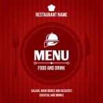 Постер, плакат: Restaurant menu design