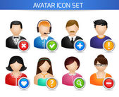 Social Avatar Icons Set — Stock Vector