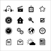 Mobile Social Media Icons — Stock Vector
