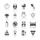Baby kind icons set — Stockvector