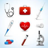 Realistic Medical Icons — Stock Vector