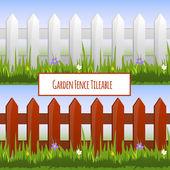 Garden fence pattern — Stock Vector