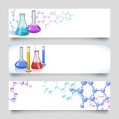 Chemical laboratory banners — Stock Vector