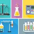 Laboratory equipment decorative icons set — Stock Vector #44778261
