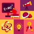 Постер, плакат: Physics flat design icons set