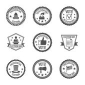 Elections labels set — Stock Vector