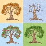Four seasons tree — Stock Vector #44823829
