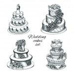 Wedding cakes set — Stock Vector #44823873