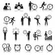 Time Management Icons Set — Stock Vector #44823887