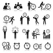 Time Management Icons Set — Stock Vector