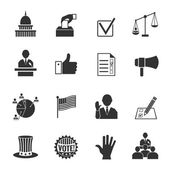 Elections icons set — Stock Vector