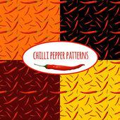 Chilli pepper seamless pattern — Stock Vector