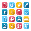 Baby Child Icons Set — Stock Vector #44997335