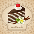 Vanilla layered cake poster — Stock Vector #44997379