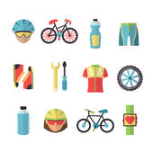 Bicycle Sports Icons Set — Stock Vector