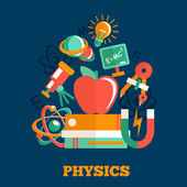 Physics science flat design — Stock Vector