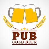 Affiche de pub de bière — Vecteur