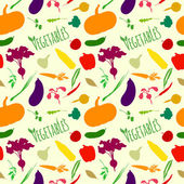 Vegetables seamless pattern — Stock Vector