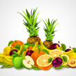 Tropical Fruits Set Still Life — Stock Vector #45049181