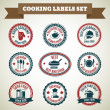 Cooking chef labels — Stock Vector