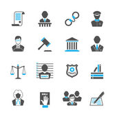 Law icons set — Stock Vector