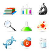 Science Realistic Icons — Stock Vector