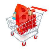 Shopping cart sale emblem — Stock Vector