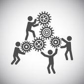 Gear teamwork concept — Stock Vector