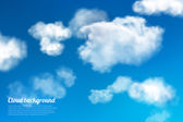 Sky clouds background — Stock Vector