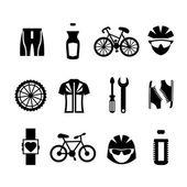 Cykel ikoner set — Stockvektor