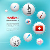 Medical bubble infographic — Stock Vector