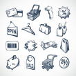 Shopping Sketch Icons — Stock Vector #45391501