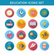 Education Icons Flat Set — Stock Vector #45391595