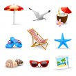 Realistic Summer Vacation Icons — Stock Vector #45392443