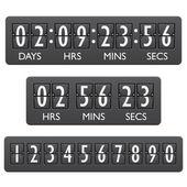 Countdown timer emblem — Stock Vector