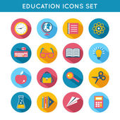 Education Icons Flat Set — Stock Vector