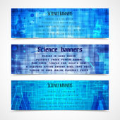 Science banners modern — Stock Vector