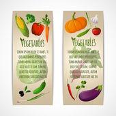 Vegetables vertical banners — Stock Vector